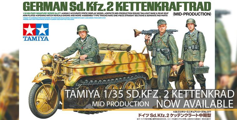 Tamiya 35377 Sd.Kfz.2 Kettenkraftrad - Mid-Production - 1/35