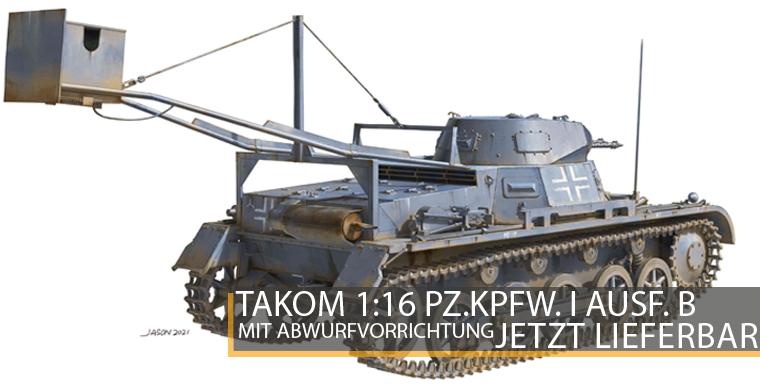 Takom 1011 Panzer I Ausf. B mit Abwurfvorrichtung - 1:16