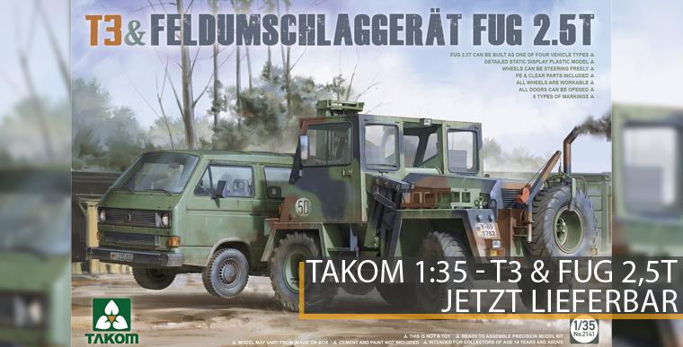 Takom 2141 - T3 & Feldumschlaggerät - FUG 2,5T - 1:35