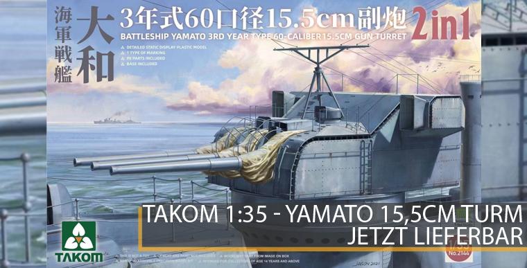 Takom 2144 - Yamato 15,5cm Geschützurm - 1:35