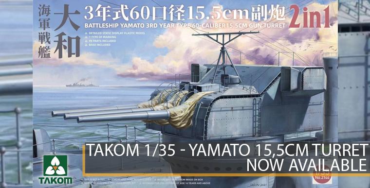 Takom 2144 - Yamato 15,5cm Turret - 1/35