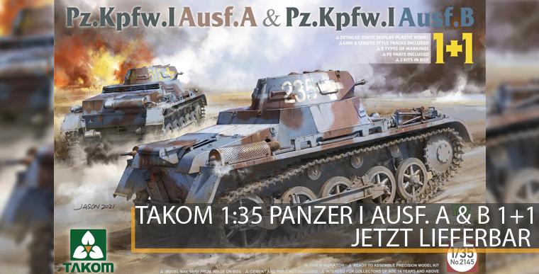Takom 2145 - Panzer I Ausf. A & Panzer I Ausf. B - 1+1 - 1:35