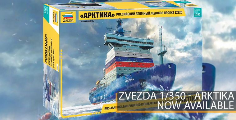 Zvezda 9044 - Artika - Russian Nuclear Powered Idebreaker - 1/35