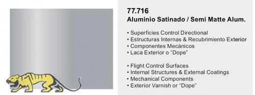 Metal Color 77716 - Semigloss Aluminum