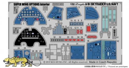 Fotoätzteile - Cockpit - für Skyraider A-1H Navy - Zoukei Mura (SWS03) - 1:32