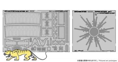 Fotoätzteile - Rumpf / Motor - für Skyraider A-1H Navy - Zoukei Mura (SWS03) - 1:32