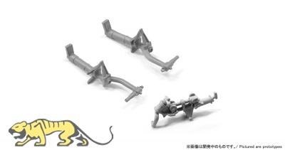 Metallfahrwerk für P-51D Mustang - Zoukei Mura (SWS04) - 1:32