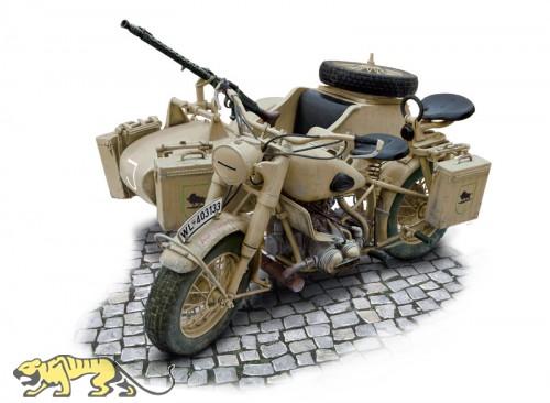 Deutsche Wehrmacht Motorrad mit Beiwagen - BMW R75