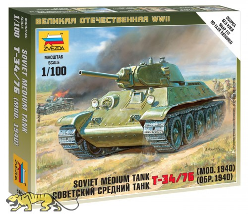 T-34/76 - Modell 1940 - Sowjetischer mittelschwerer Panzer - 1:100
