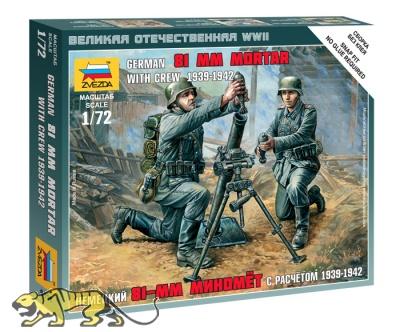 Deutsche Wehrmacht 81mm Mörser mit Besatzung - 1939 - 1942 - 1:72