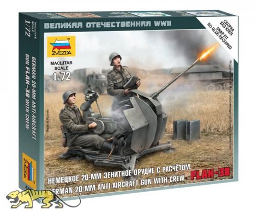 Deutsche 20mm Flak 38 mit Besatzung - 1:72