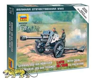 Deutsche 105mm Haubitze LeFH 18/18M mit Besatzung - 1:72