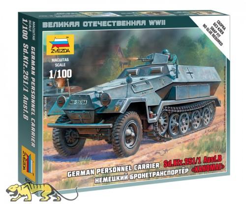 Deutscher Schützenpanzerwagen Sd.Kfz. 251/1 Ausf. B - 1:100