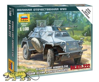 Sd.Kfz. 222 - leichtes deutsches Aufklärungsfahrzeug - 1:100