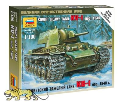 KV-1 - sowjetischer schwerer Panzer - Modell 1940 mit L-11 Geschütz - 1:100