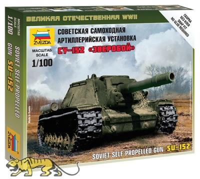 SU-152 - sowjetischer schwerer Jagdpanzer - 1:100