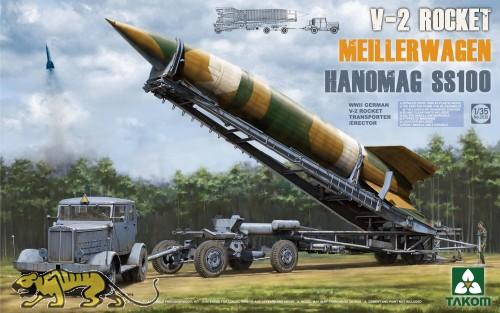 Meilerwagen mit V-2 Rakete und Hanomag SS100