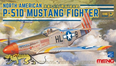 North American P-51D Mustang Fighter - 1:48