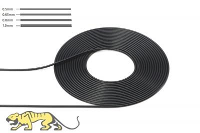Kabel 0,8 mm Durchmesser - Schwarz