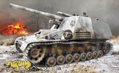 Hummel - Sd.Kfz. 165 - Erstserien-Produktion mit Winterketten