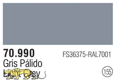 Model Color 155 / 70990 - Silbergrau / Light Grey FS36375 RAL7001