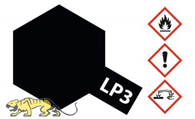 Tamiya LP-3 Black - Flat - 10ml