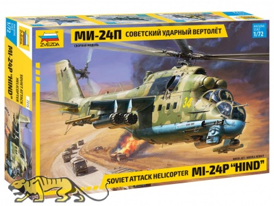 Mi-24P - Hind - Soviet Attack Helicopter - 1:72