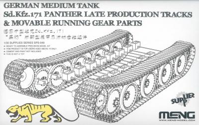 Panther - späte Produktion - Bewegliche Ketten und Fahrwerk - 1:35