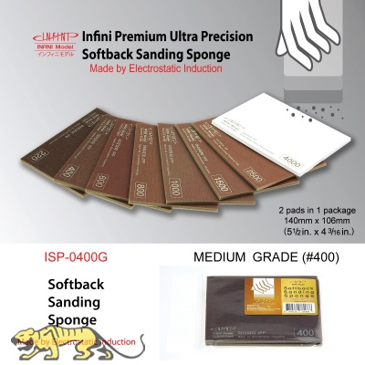 Softback Sanding Sponge - Medium #400 - 140mm x 106mm - 2 pcs.