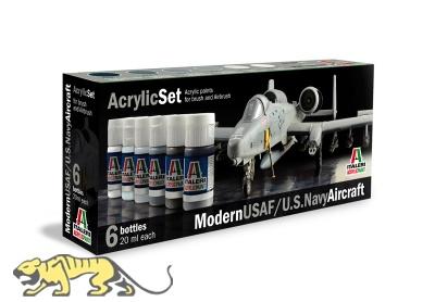 Italeri Acrylic Set - Modern USAF / US Navy Aircraft