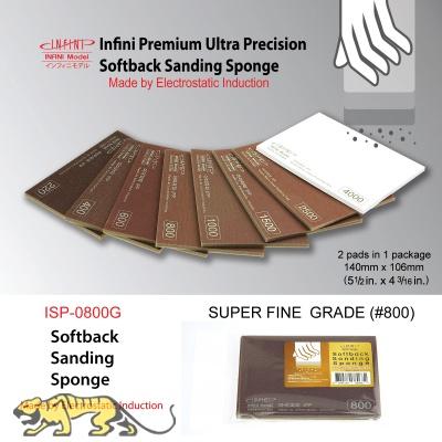 Softback Sanding Sponge - Super Fine #800 - 140mm x 106mm - 2 pcs.