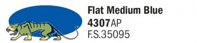 Italeri Acrylic 4307AP - Mittelblau Matt / Flat Medium Blue - FS35095 - 20ml