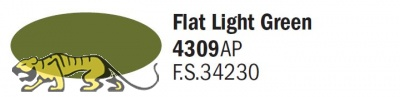 Italeri Acrylic 4309AP - Flat Light Green - FS35230 - 20ml