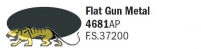 Italeri Acrylic 4681AP - Metallgrau matt / Flat Gun Metal - FS37200 - 20ml