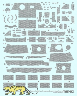 Zimmerit - Typ 4 - für Meng Panther Ausf. A - TS-035 - 1:35