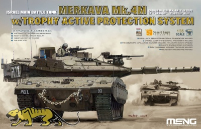 Merkava Mk. 4M with Trophy Active Protection System - Israel Main Battle Tank - 1:35