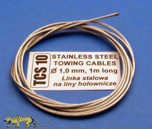 Stainless Steel Towing Cable Ø1,0mm, 1m long