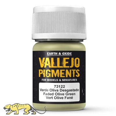 Vallejo Pigments 73122 Faded Olive Green, Pigment - 35ml