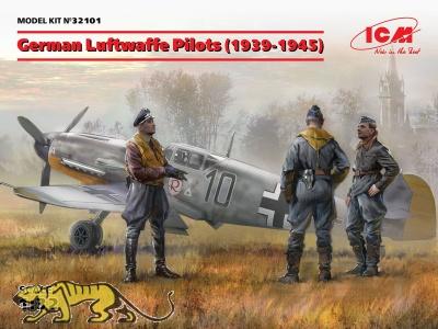 Luftwaffe Piloten 1939 - 1945 - 3 Figuren - 1:32