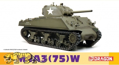 US M4A3 75W Sherman - 1:6