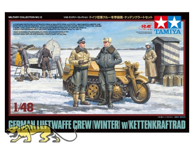 Luftwaffe Figurenset - Winter - mit Kettenkrad - 1:48