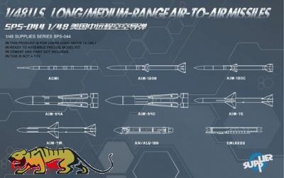 US Long / Medium Range Air to Air Missiles - 1:48