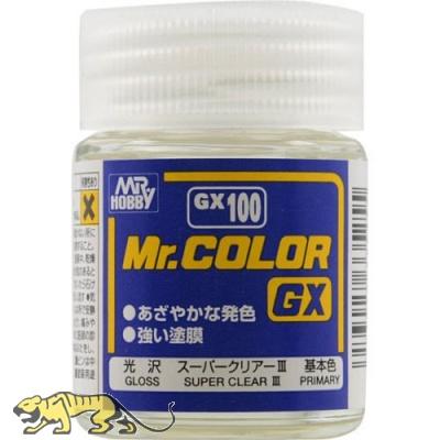 Mr. Hobby Mr. Color GX100 Super Clear III - Clear Coat Gloss - 18ml