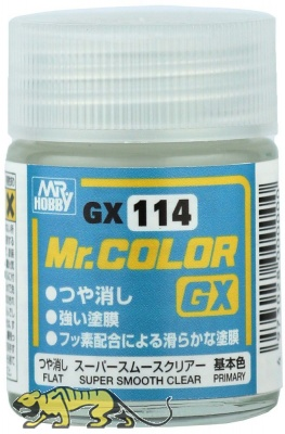 Mr. Hobby Mr. Color GX114 Super Smoot Clear - Clear Coat Flat