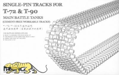 Single-Pin Tracks für T-72 & T-90 Main Battle Tanks - Bewegliche Einzelgliederkette - 1:35