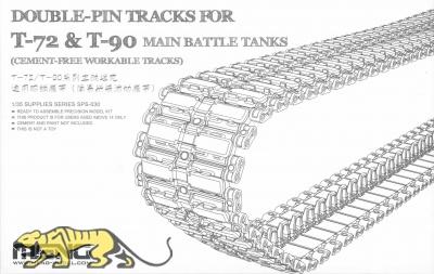 Double-Pin Tracks für T-72 & T-90 Main Battle Tanks - Bewegliche Einzelgliederkette - 1:35