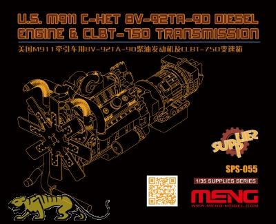 US M911 C-HET 8V-92TA-80 Diesel Engine & CLBT-750 Transmission - 1:35