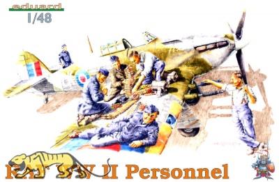 RAF WWII Personell - 6 Figuren - 1:48