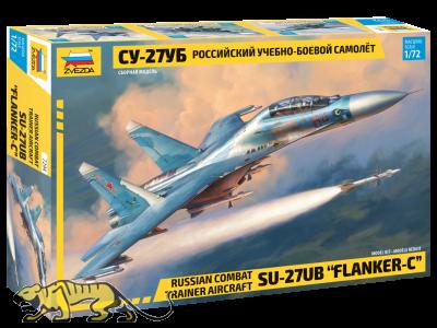 Russischer Kampftrainer Suchoi SU-27UB Flanker-C - 1:72