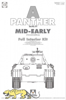Panther - Ausf. A - Sd.Kfz. 171 - Mid-Early Production with full Interior - 1:35